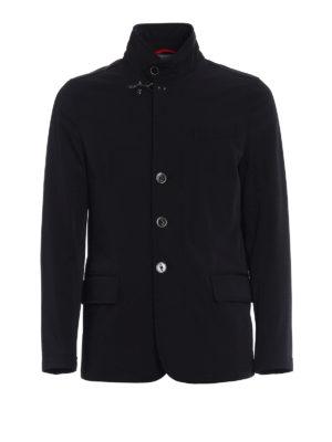 Fay: padded jackets - Urban techno black jacket