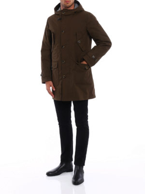 Fay: parkas online - Coated cotton parka