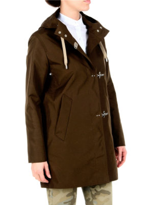 Fay: parkas online - Hooded rain proof parka