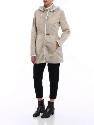 Fay: parkas online - Light nylon hooded raincoat