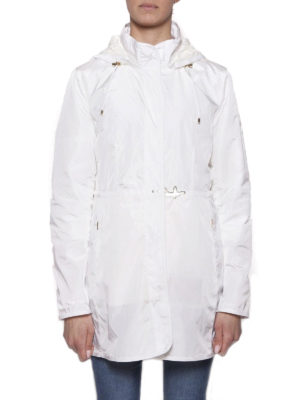 Fay: parkas online - Light white nylon hooded raincoat