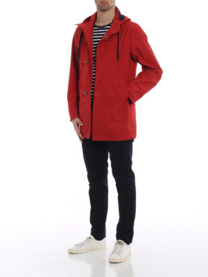 Fay: parkas online - Red nylon parka with hooks