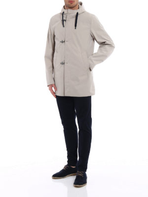 Fay: parkas online - Technical fabric parka with hooks