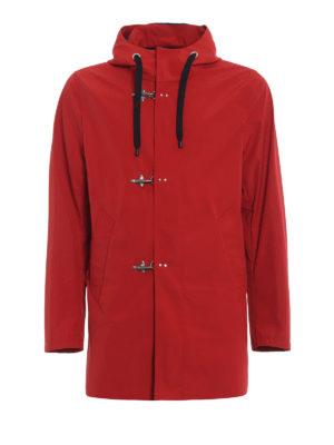 Fay: parkas - Red nylon parka with hooks