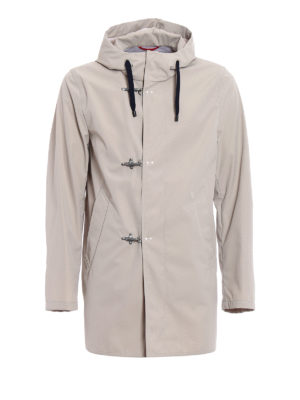 Fay: parkas - Technical fabric parka with hooks