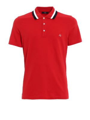 FAY: polo - Polo rossa colletto a contrasto