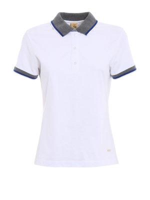 Fay: polo shirts - Contrasting collar white polo shirt