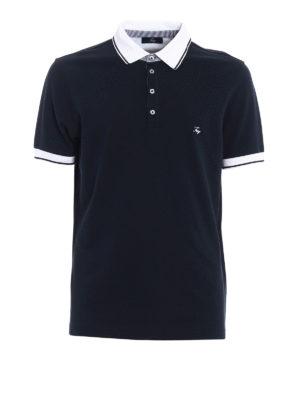 Fay: polo shirts - Contrasting edges pique polo shirt