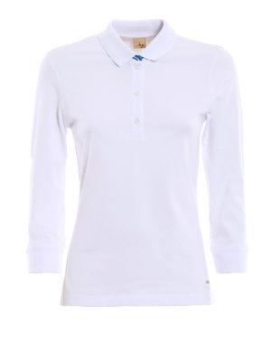 Fay: polo shirts - Cotton double collar polo shirt