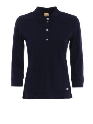 Fay: polo shirts - Double collar cotton polo shirt