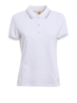 Fay: polo shirts - Lurex trimmed polo shirt