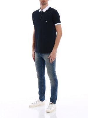 Fay: polo shirts online - Contrasting edges pique polo shirt