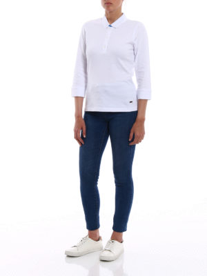 Fay: polo shirts online - Cotton double collar polo shirt