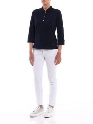 Fay: polo shirts online - Double collar cotton polo shirt