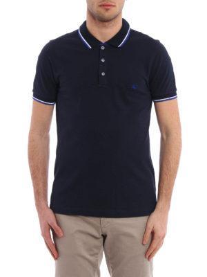 Fay: polo shirts online - Embroidered logo cotton pique polo