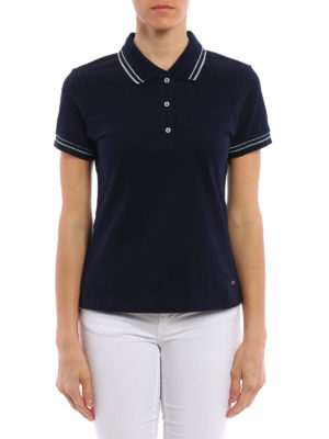 Fay: polo shirts online - Lurex trimmed polo shirt