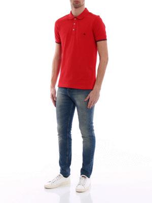 Fay: polo shirts online - Pique double collar polo shirt