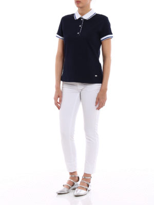 Fay: polo shirts online - Polo with striped cuffs and collar