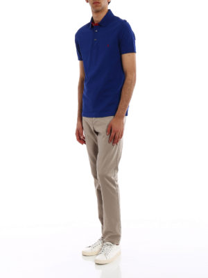 Fay: polo shirts online - Red logo detailed polo shirt