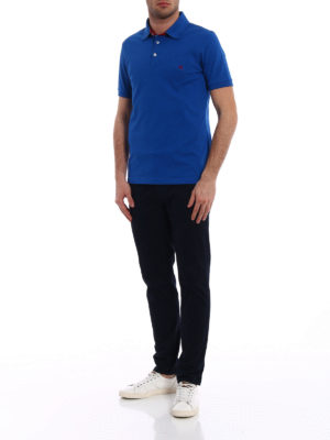 Fay: polo shirts online - Red logo embroidery polo shirt