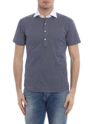 Fay: polo shirts online - Shirt poplin collar jersey polo