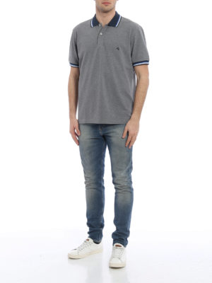 Fay: polo shirts online - Striped collar and cuffs polo