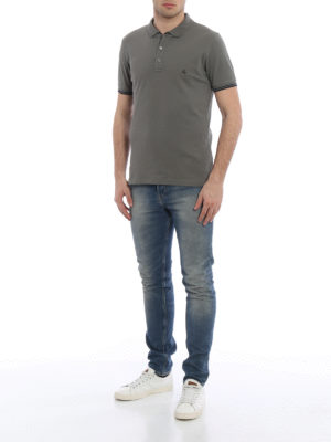 Fay: polo shirts online - Striped details polo shirt
