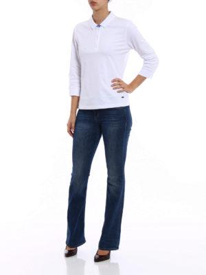 Fay: polo shirts online - Three-quarter sleeve polo shirt