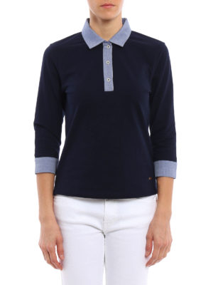 Fay: polo shirts online - Three quarter sleeved polo