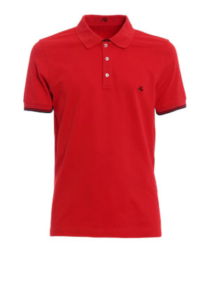 Fay: polo shirts - Pique double collar polo shirt
