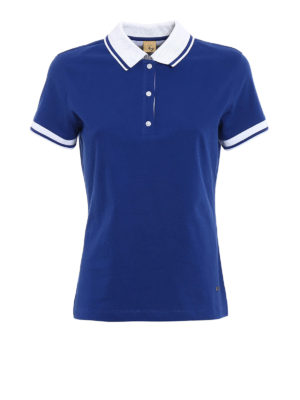 Fay: polo shirts - Polo with striped collar and cuffs