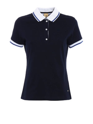 Fay: polo shirts - Polo with striped cuffs and collar
