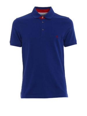 Fay: polo shirts - Red logo detailed polo shirt
