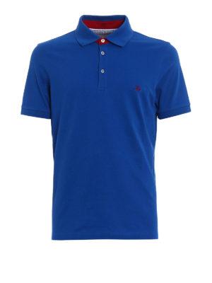 Fay: polo shirts - Red logo embroidery polo shirt