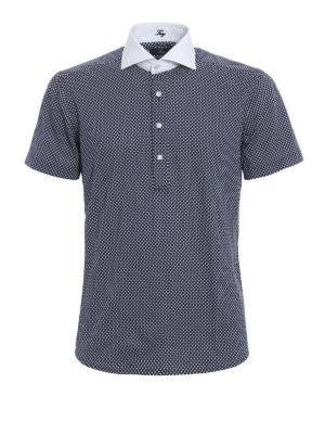 Fay: polo shirts - Shirt poplin collar jersey polo