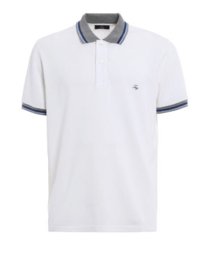 Fay: polo shirts - Striped collar and cuffs polo