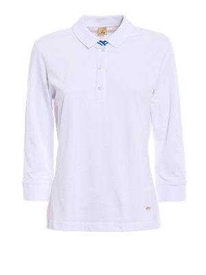 Fay: polo shirts - Three-quarter sleeve polo shirt