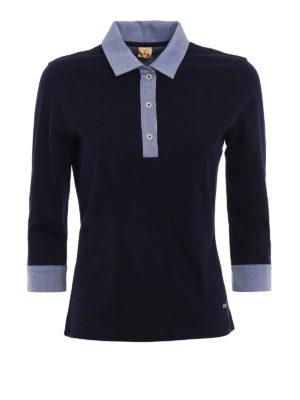 Fay: polo shirts - Three quarter sleeved polo