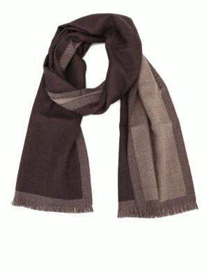 FAY: sciarpe e foulard - Sciarpa classica in lana color cioccolato