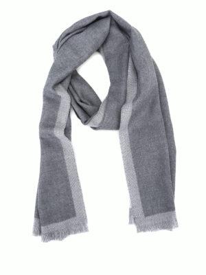 FAY: sciarpe e foulard - Sciarpa classica in lana grigio nuvola