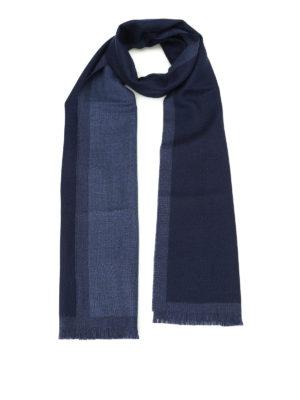 Fay: scarves - Dark blue pure wool scarf