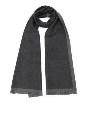 Fay: scarves - Dark grey pure wool scarf