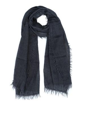 FAY: sciarpe e foulard - Sciarpa in misto cashmere tinta in capo