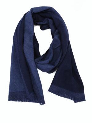 FAY: sciarpe e foulard - Sciarpa classica in lana blu navy