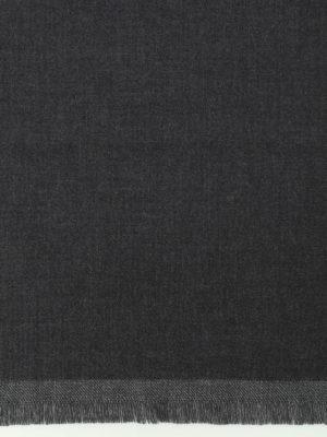 Fay: scarves online - Dark grey pure wool scarf