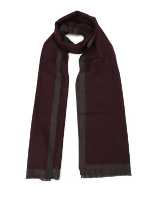 Fay: scarves - Red-purple pure wool scarf