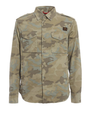 Fay: shirts - Army style camouflage cotton shirt