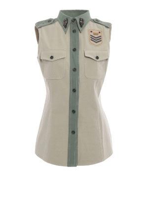 Fay: shirts - Army style sleeveless shirt