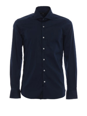 Fay: shirts - Blue cotton classic shirt