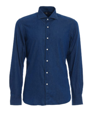 FAY: camicie - Camicia in denim di cotone blu
